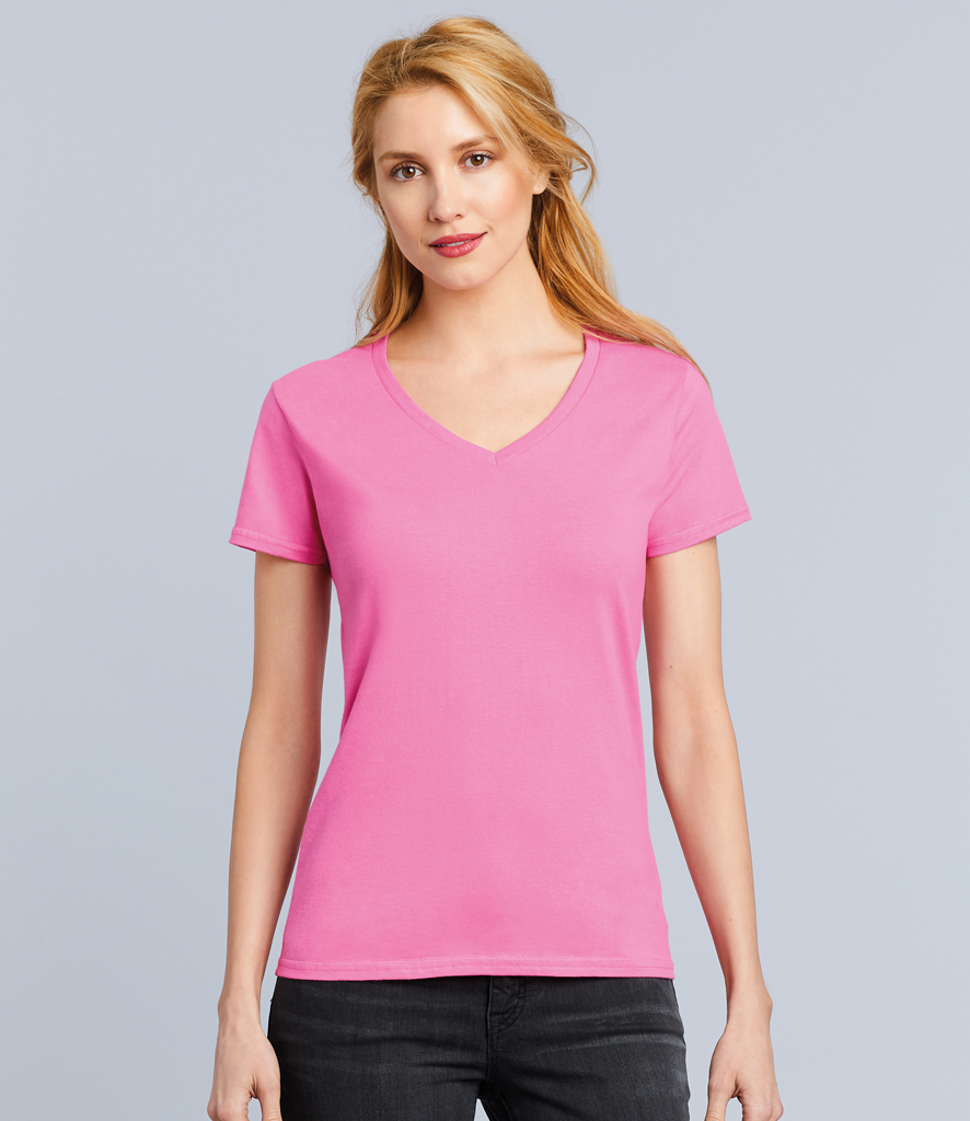 53aacca4b6 GD91 Gildan Ladies Premium Cotton?? V Neck T-Shirt - Colorco Ltd