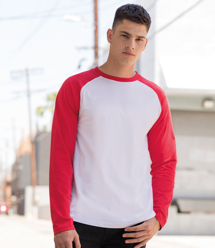 d85e7029e6d7 SF271 SF Men Long Sleeve Baseball T-Shirt -
