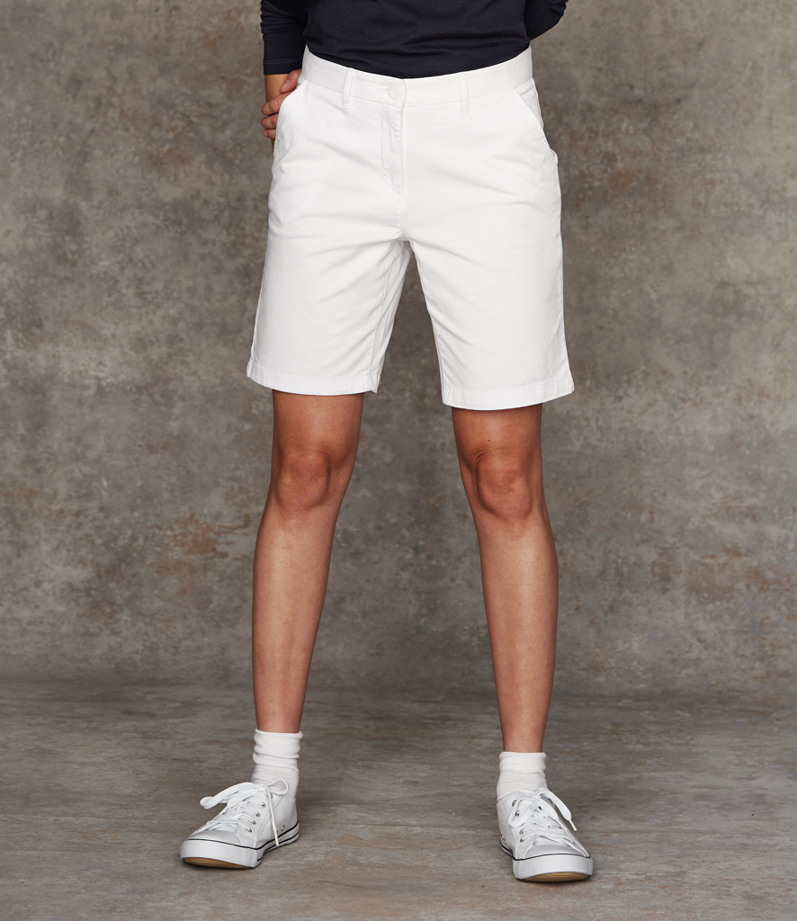 97be2892d FR606 Front Row Ladies Stretch Chino Shorts -